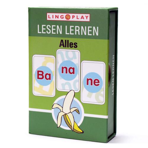 Alles Banane! - Lesespiel mit 3-silbigen lauttreuen Wörtern