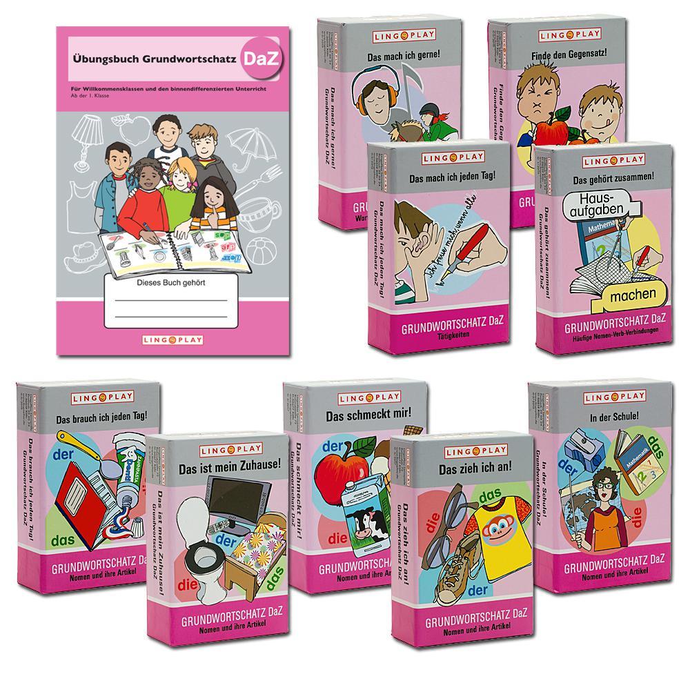 Paket: DaZ-Grundwortschatz - Übungsbuch und 9 Spiele