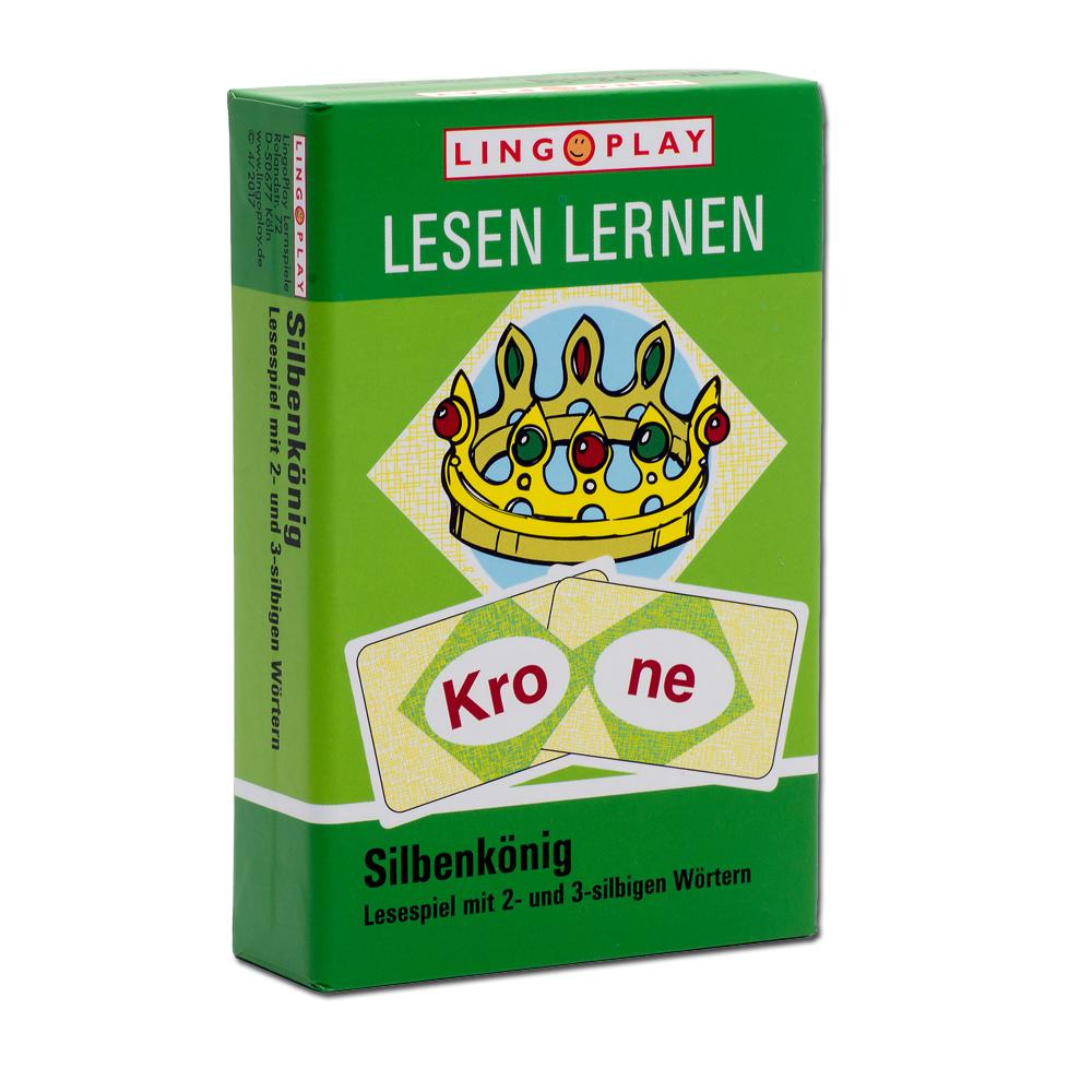 Silbenkönig - Lesespiel mit 2- und 3-silbigen Wörtern